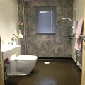 designer bathroom in paisley